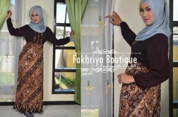 gamis trendy masa kini Safira By Fakhriya Coklat