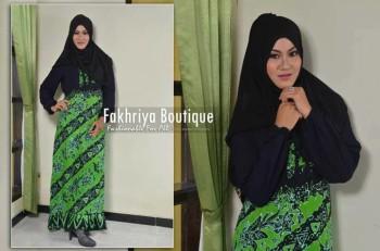 gamis trendy terbaru 2014Safira By Fakhriya Hijau
