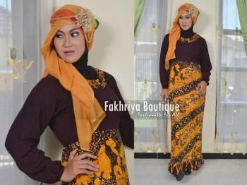 gamis trendy Safira By Fakhriya Kuning