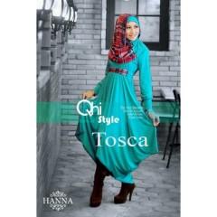 baju muslimah online shop  pusat-Gamis-Terbaru-Hanna-by-Qhi-Style- Tosca