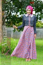 busana muslim fashion Amara by Naura grey