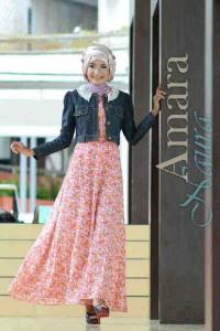 gaun muslim modis Amara by Naura mocca