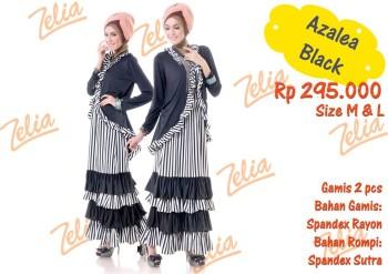 gamis pesta elegan 2014 Azalea Black