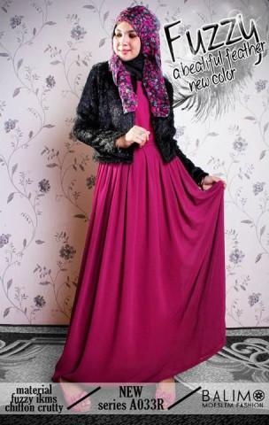 baju muslimah modern  BALIMO FUZZY 2 Magenta