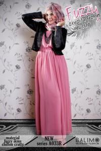 baju muslimah modis  BALIMO FUZZY 2 Pink