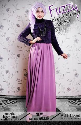 baju muslimah modern dan modis  BALIMO FUZZY 2 Purple