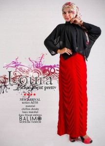 baju muslimah trendy  BALIMO LOURA Hitam