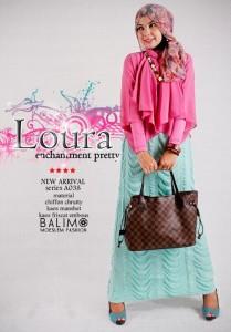 baju muslimah online shop  BALIMO LOURA Red Crimson