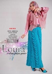 baju muslimah trendy  BALIMO LOURA Salem