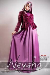 baju muslim elegan  BALIMO NEYSHA 5 Purple
