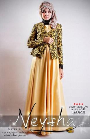 baju muslimah gamis  BALIMO NEYSHA 5 Yellow