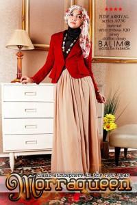 butik baju muslim Balimo Morraqueen Red