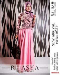 gamis pesta elegan Balimo Rhasya Rosy Pink