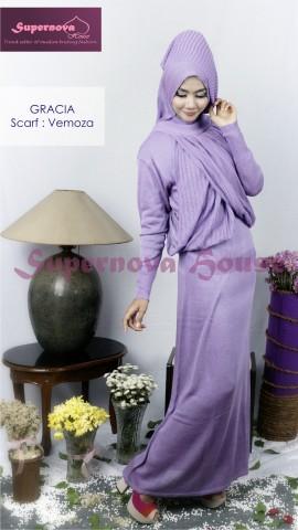 baju muslimah anak perempuan  Gracia Ungu