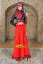 baju muslimah modis Rajna 10 Red Green Army