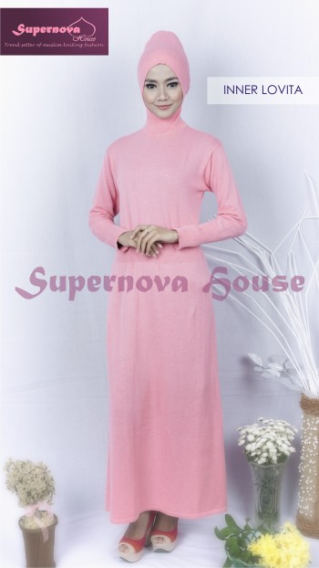 gamis pesta elegan Inner Lovita Pink