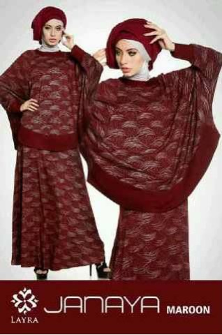baju muslim pesta wanita  JANAYA by Layra Maroon