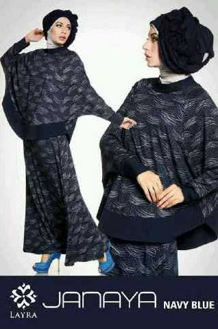 baju muslim kantor modern  JANAYA by Layra Navy Blue