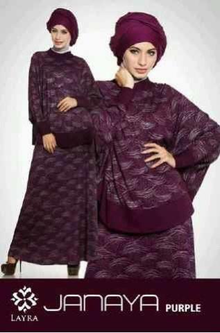 baju muslim kantor modis  JANAYA by Layra Purple