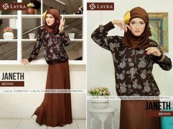 baju muslim yang cocok untuk kuliah  JANETH by Layra Brown