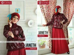 baju muslimah pesta  JANETH by Layra maroon