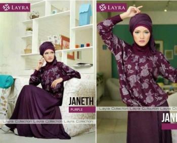 baju muslim pesta wanita  JANETH by Layra purple
