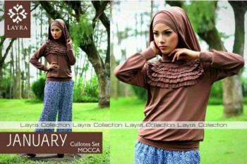 gamis modern 2014 JANUARY BY LAYRA Mocca