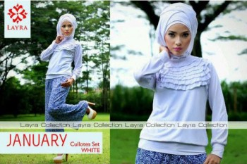 gamis pesta modern terbaru JANUARY BY LAYRA White