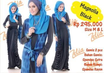 gamis pesta muslimah Magnolia Black