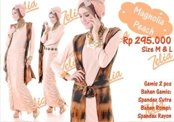 baju muslimah modis  Magnolia Peach