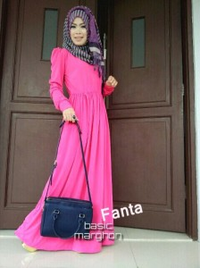 busana muslim trendy berkualitas New BASIC MARGHON 2 Fanta