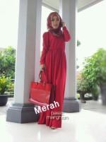 busana muslim online New BASIC MARGHON 2 Merah