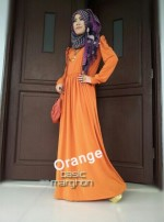 baju hijab modern New BASIC MARGHON 2 Orange