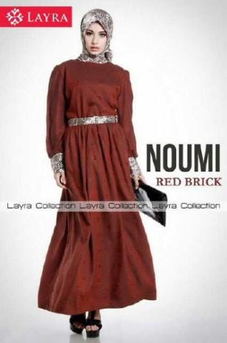 baju muslim menyusui modis  New NOUMI by Layra Red Black