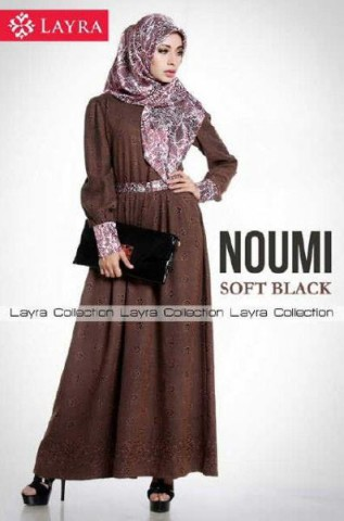 busana muslim kain sifon  New NOUMI by Layra Soft black