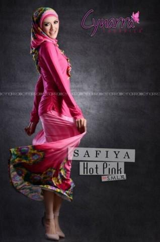 gamis pesta terbaru SAFFIA BY CYNARRA Hot Pink