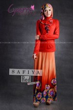 gamis model terbaru SAFFIA BY CYNARRA Red 2