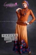 gamis hijabers SAFFIA BY CYNARRA Seanna Brown 3