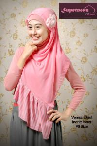 baju muslimah modis Vemos blast Pink