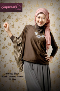 baju muslimah trendy  Vemos blast Pink Coklat