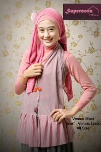 baju muslimah anak muda  Vemos blast Ungu Nila