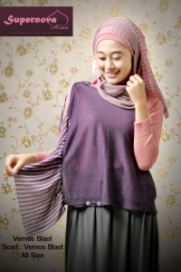 baju muslim anak perempuan  Vemos blast Ungu Tua