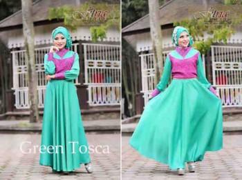 baju pesta muslim elegan  ANGEL SHINE by Fitria Green Tosca