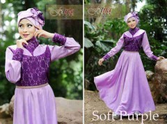 baju muslim elegan wanita  ANGEL SHINE by Fitria Soft Purple
