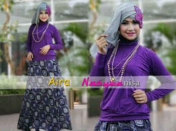 model baju muslimah yang lagi trend  Aira by Nasywannisa Purple