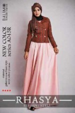 baju muslimah anak perempuan  BALIMO RHASYA 3 Peach