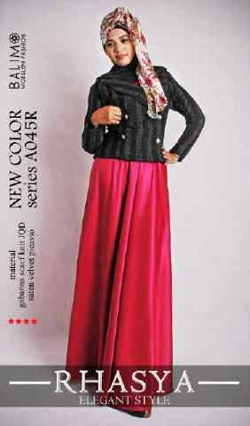 baju muslim modis  BALIMO RHASYA 3 Red