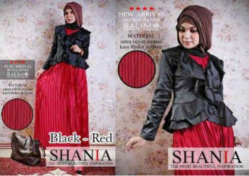 baju muslim modern untuk kerja  BALIMO SHANIA Black Red