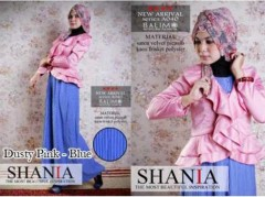baju muslimah wanita terbaru  BALIMO SHANIA Dusty Pink