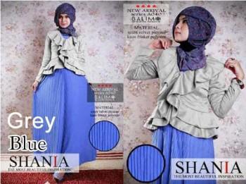 baju muslim rabbani dewasa  BALIMO SHANIA Grey Blue